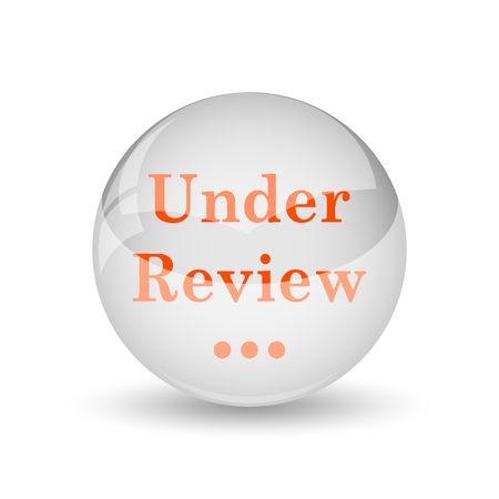 review icon: Under review icon. Internet button on white background.