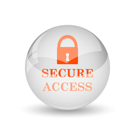 accessible: Secure access icon. Internet button on white background.