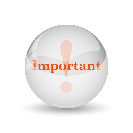 notable: Important icon. Internet button on white background.
