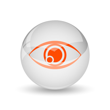 see a doctor: Eye icon. Internet button on white background.