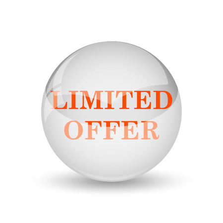 auction off: Limited offer icon. Internet button on white background.