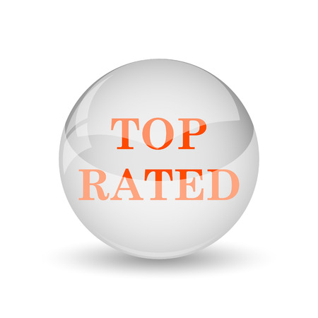 top rated: Top rated  icon. Internet button on white background.