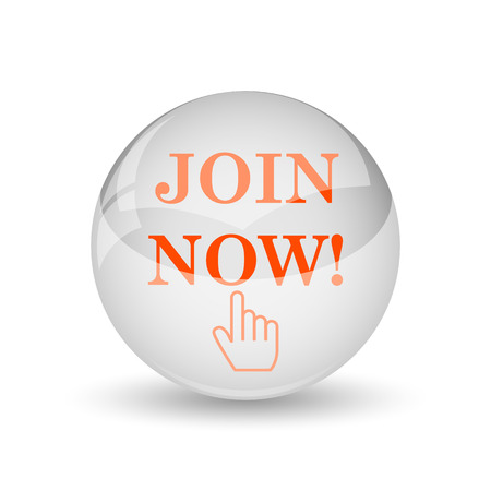 join: Join now icon. Internet button on white background. Stock Photo