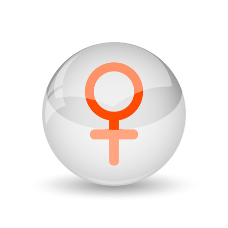 female sign: Female sign icon. Internet button on white background.