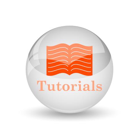 Tutorials icon. Internet button on white background.