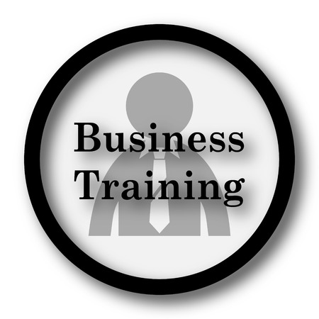 idea hurdle: Business training icon. Internet button on white background.