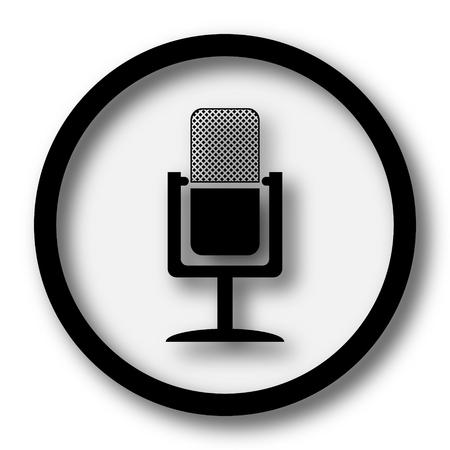channel: Microphone icon. Internet button on white background.