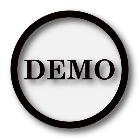 black button: Demo icon. Internet button on white background.