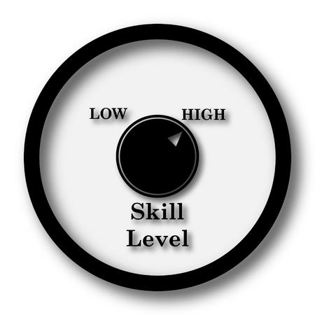 proficiency: Skill level icon. Internet button on white background.