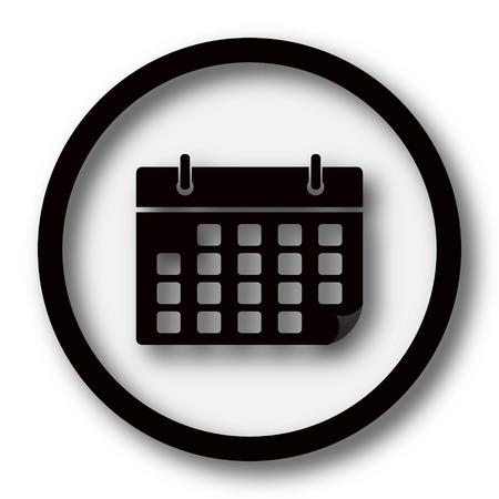 calendar date: Calendar icon. Internet button on white background.