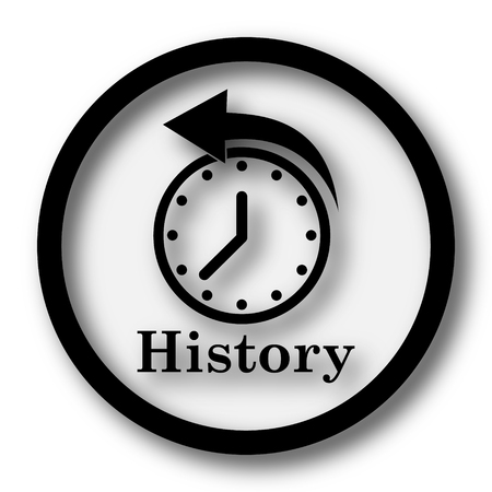 black history: History icon. Internet button on white background.