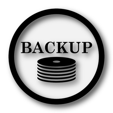 secure files: Back-up icon. Internet button on white background.