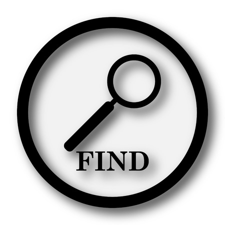 to find: Find icon. Internet button on white background.