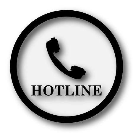 hotline: Hotline icon. Internet button on white background. Stock Photo