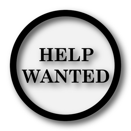vacancies: Help wanted icon. Internet button on white background.