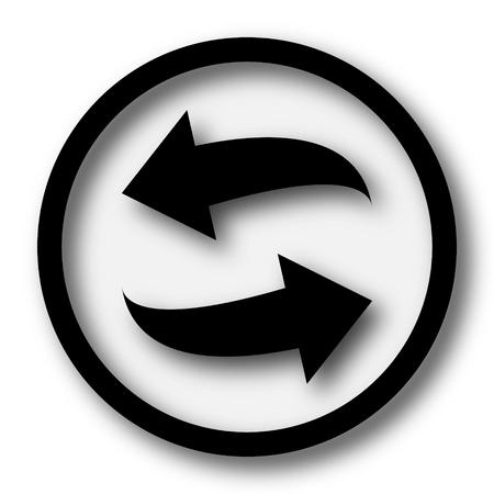 Swap icoon. Internet knop op een witte achtergrond.