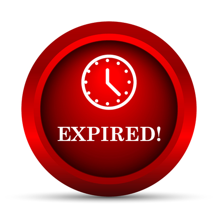 expired: Expired icon. Internet button on white background. Stock Photo