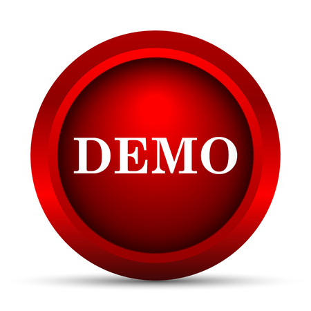 demo: Demo icon. Internet button on white background.