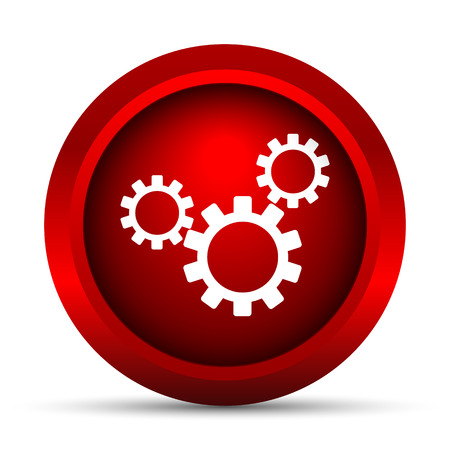 toothed: Settings icon. Internet button on white background. Stock Photo