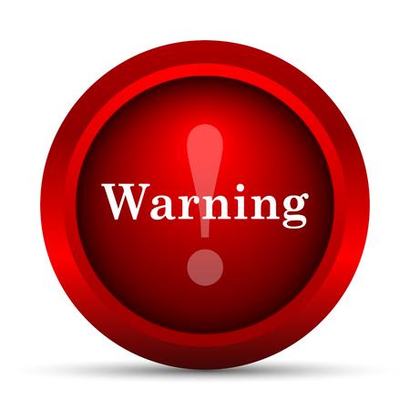 peril: Warning icon. Internet button on white background. Stock Photo