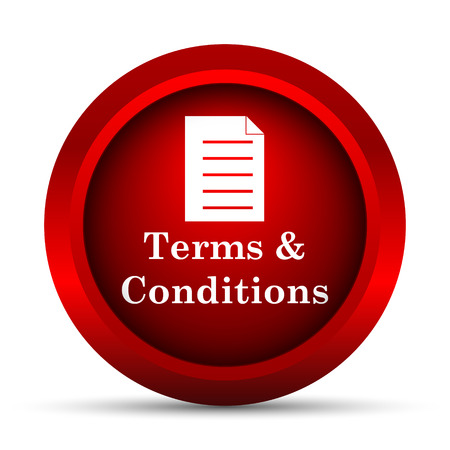 information technology law: Terms and conditions icon. Internet button on white background.