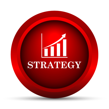 strategies: Strategy icon. Internet button on white background.
