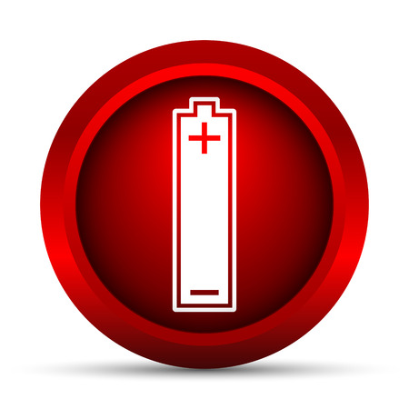 Battery icon. Internet button on white background.