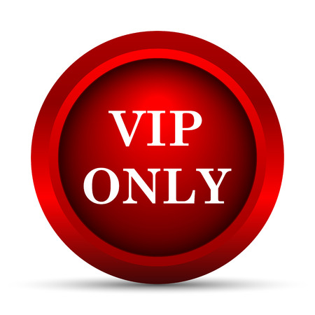 only: VIP only icon. Internet button on white background. Stock Photo