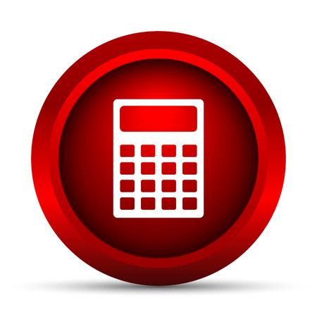 calculadora: Icono de la calculadora. Bot�n de internet sobre fondo blanco.