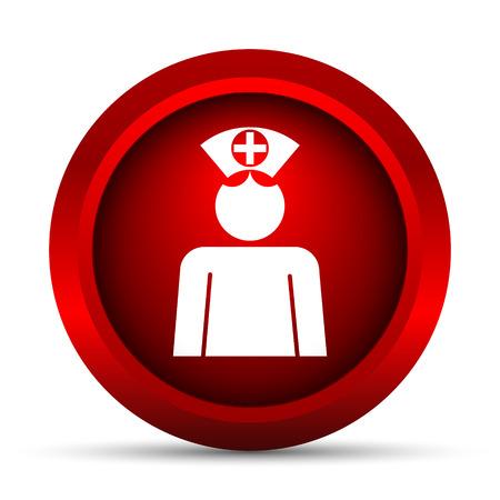 nurse: Nurse icon. Internet button on white background.