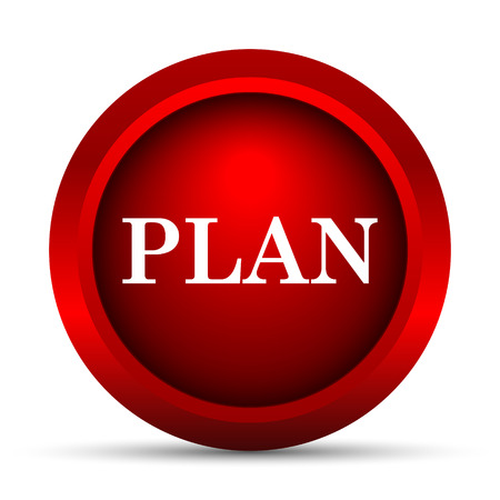 project plan: Plan icon. Internet button on white background.