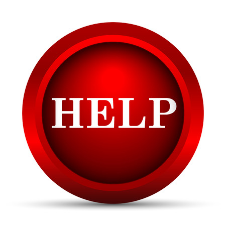 the help: Help icon. Internet button on white background.