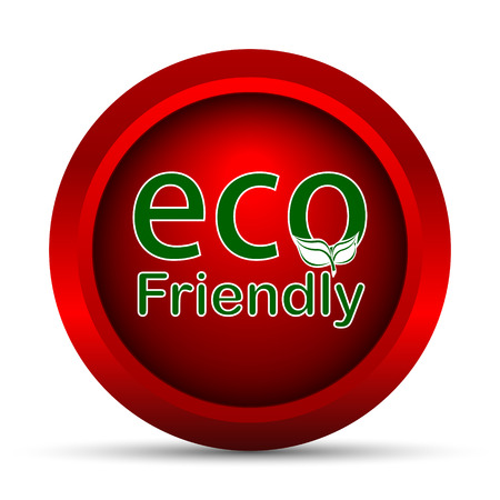 ECO: Eco Friendly icon. Internet button on white background.