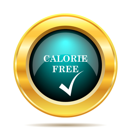 calorie: Calorie free icon. Internet button on white background.