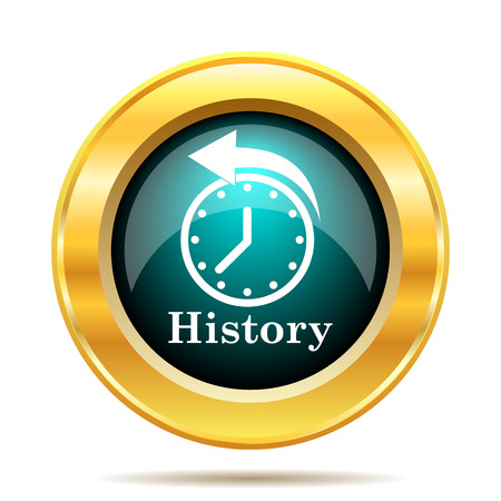 gold rush: History icon. Internet button on white background.