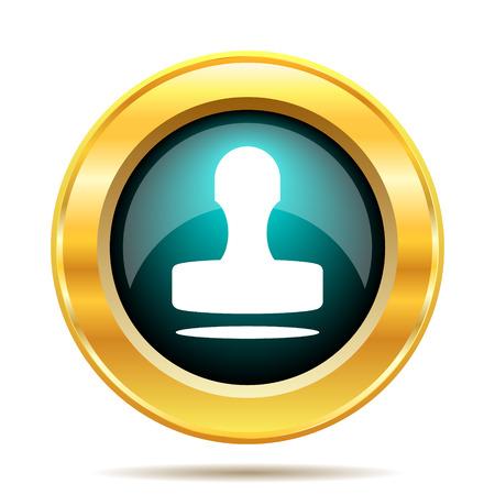 qualify: Stamp icon. Internet button on white background. Stock Photo