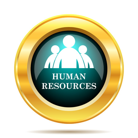 resource management: Human Resources icon. Internet button on white background.