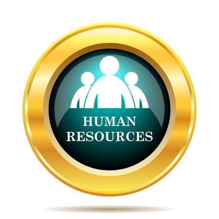 recursos humanos: Recursos Humanos icono. Botón de internet sobre fondo blanco.