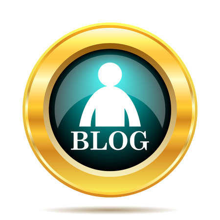 blog: Blog icon. Internet button on white background.