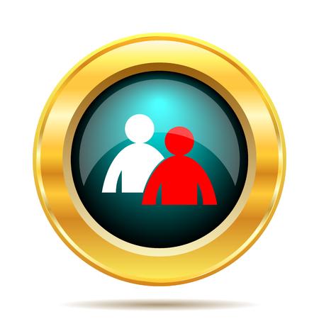 power button: Mentoring icon. Internet button on white background.
