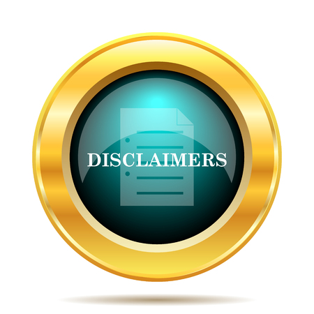 golden rule: Disclaimers icon. Internet button on white background. Stock Photo