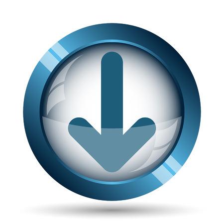 arrow icon: Down arrow icon. Internet button on white background.