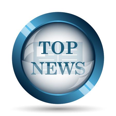 button icons: Top news icon. Internet button on white background. Stock Photo
