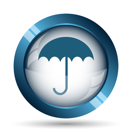 meteorology: Umbrella icon. Internet button on white background.