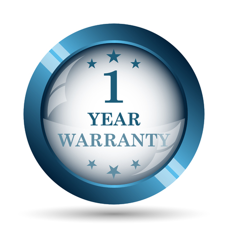 1 year: 1 year warranty icon. Internet button on white background.