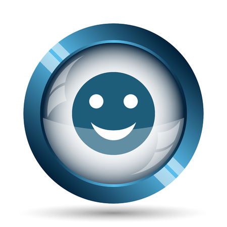 smiley icon: Smiley icon. Internet button on white background.