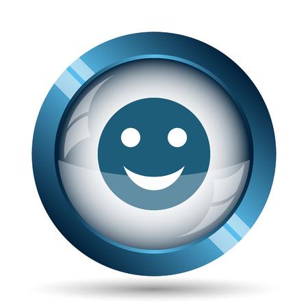 smiley: Smiley icon. Internet button on white background.