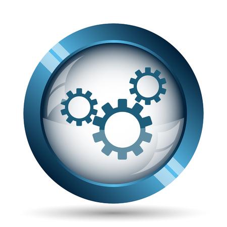 Settings icon. Internet button on white background. Stock Photo