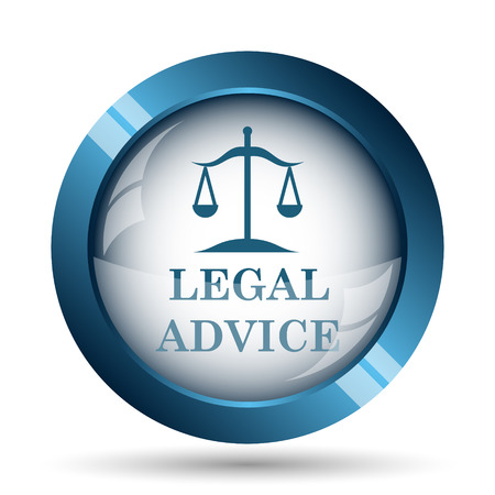 legal: Legal advice icon. Internet button on white background.
