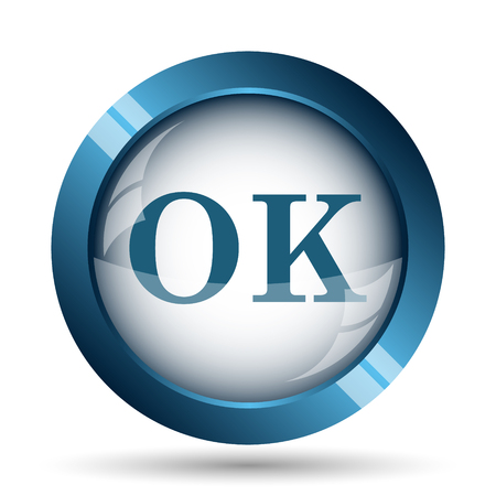 icons business: OK icon. Internet button on white background.